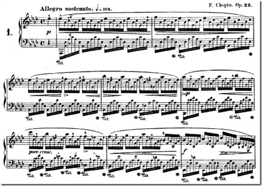Chopin Etude Opus 25 No 1