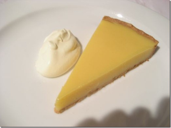 Kaffir and Tahitian lime tart