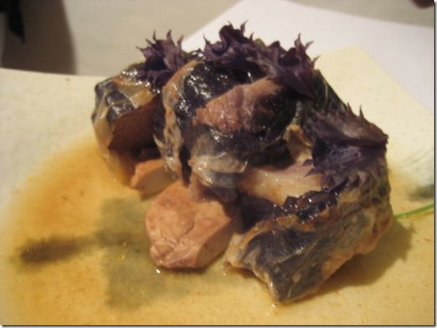 Lamb wrapped with clour-eye mushrooms