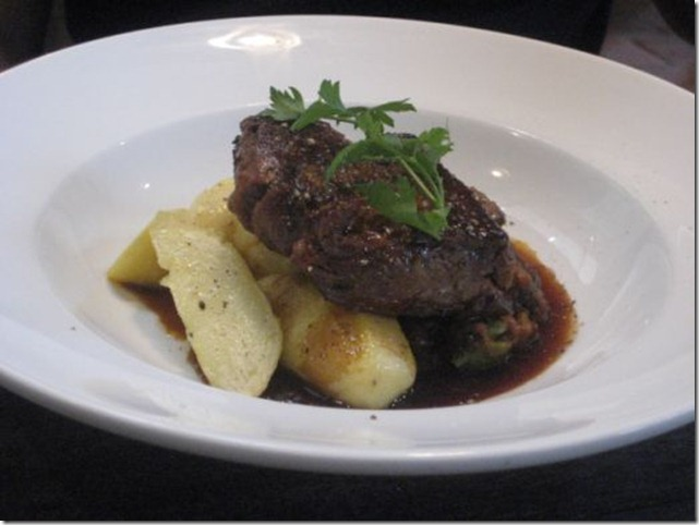 Slow baked lamb shoulder with kipfler potatoes