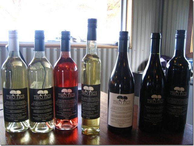Tasting medley of Two Figs winery