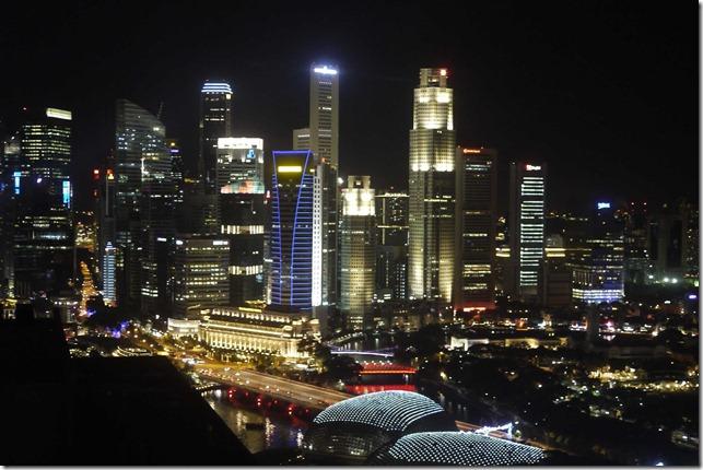 Singapore skyline on 31 December 2010