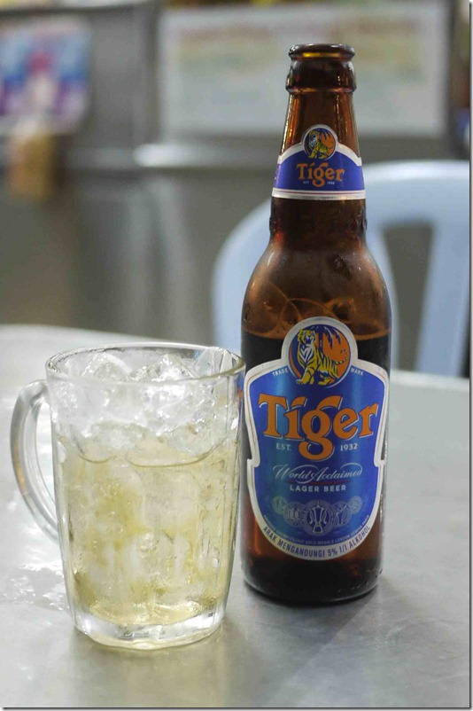 Tiger Beer, Restoran Sri Brinchang, RM6 (Approximately A$1.80)