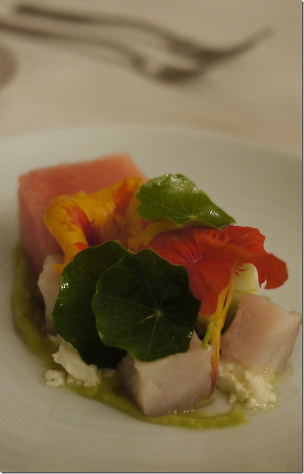 Kingfish escabeche with watermelon