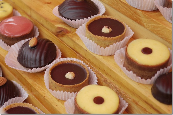 Chocolate tarts at Burrawang Easter Markets