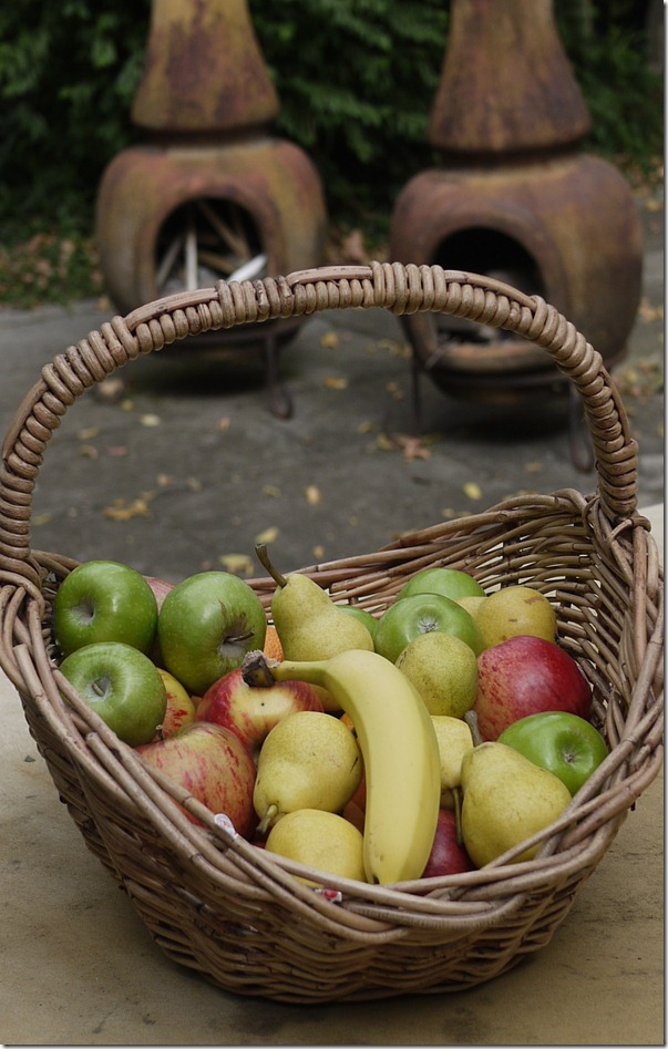 Fruit basket at Strathburn Cottage, Bowral
