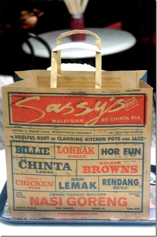 Sassy's Red take away bag