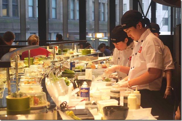 Sushi chefs at Sushi Hon, Westfield Sydney