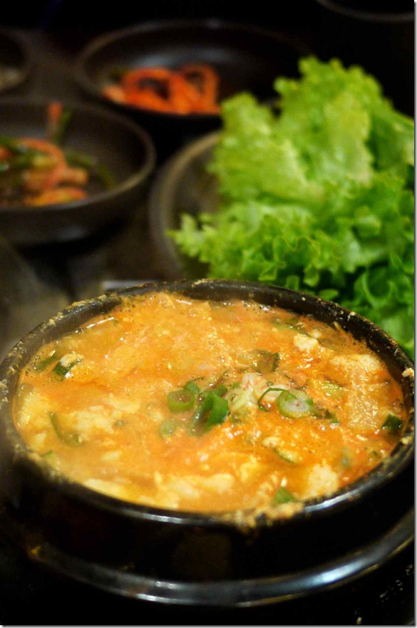 Spicy soft tofu $12.00