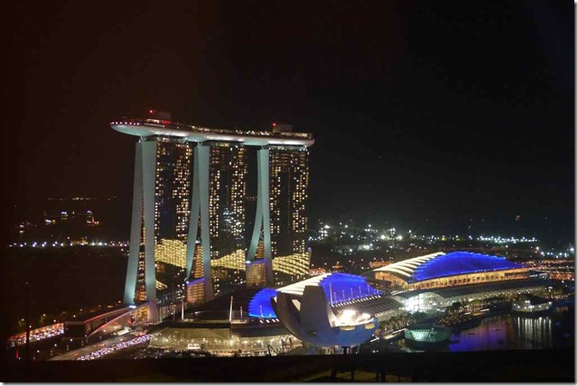 Marina Bay Sands on 31 December 2010