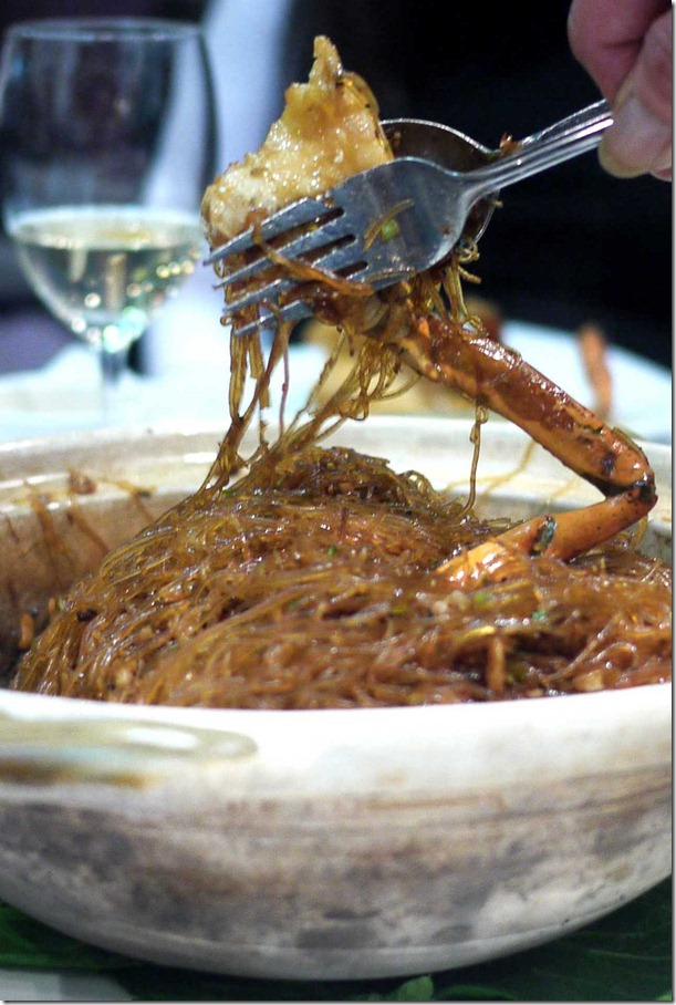 Fresh mud crab with glass noodles $78.00 (Market price)