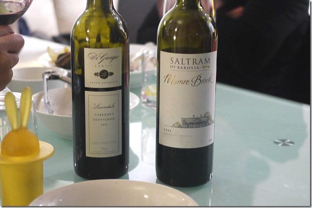 Lindale cabernet sauvignon and Saltram shiraz