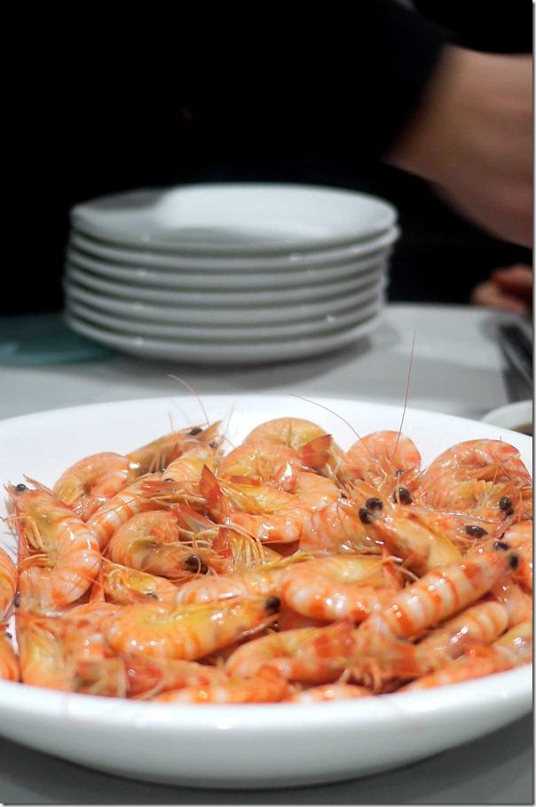 Live prawns $128 per kg