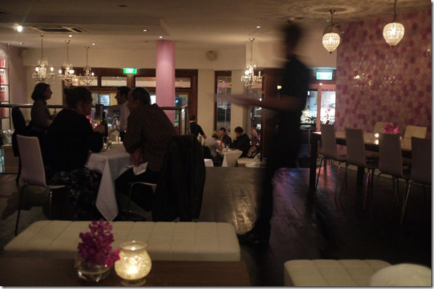 Dinner service at Pink Salt, Double Bay