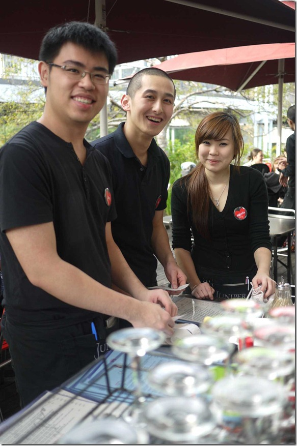 Service with a smile - floor staff of Chinta Ria Temple of Love