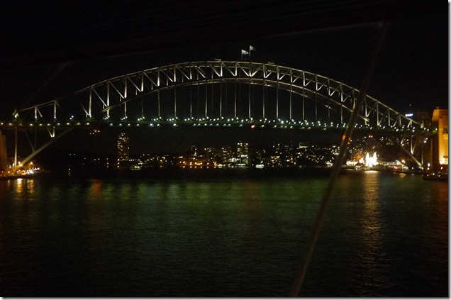 View of Sydney Harbour Bridge from north end of Sydney Opera House