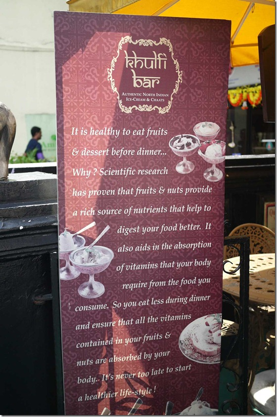 Khulfi bar, Little India, Singapore