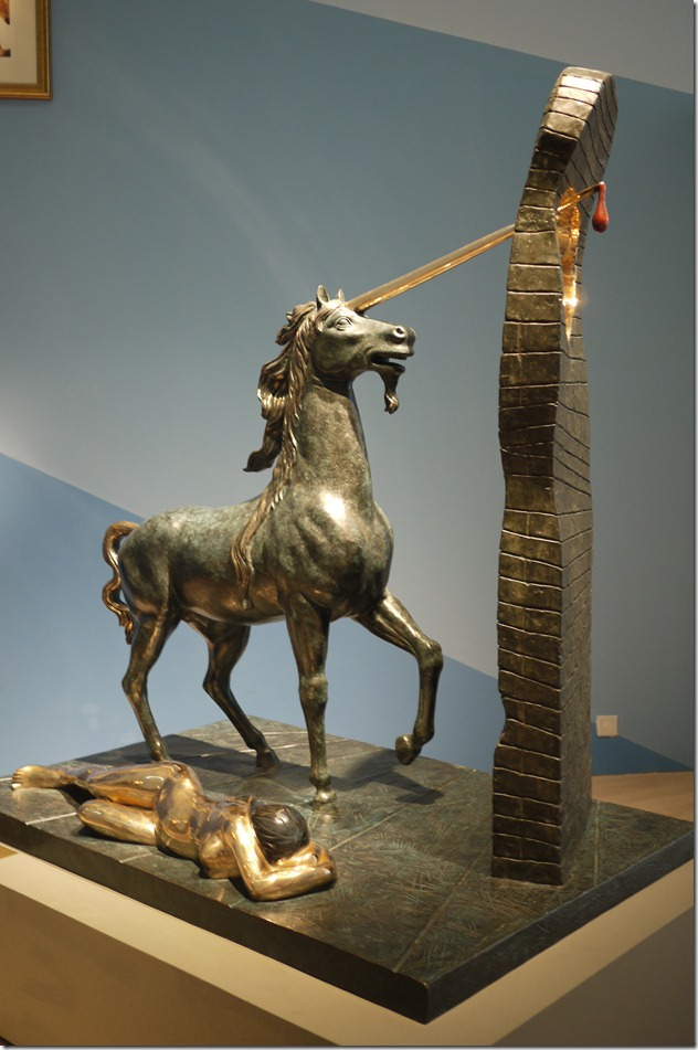 Unicorn, first conceived 1977 first cast 1984, bronze