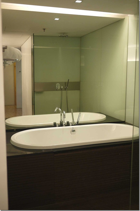 Bathroom and ensuite of Deluxe room