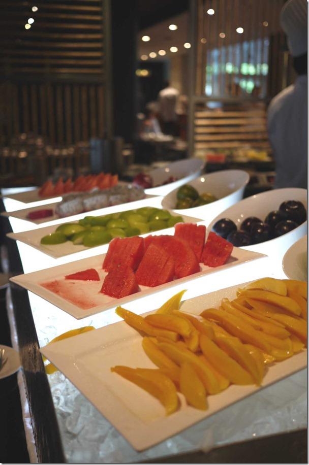 Assortment of local fruits