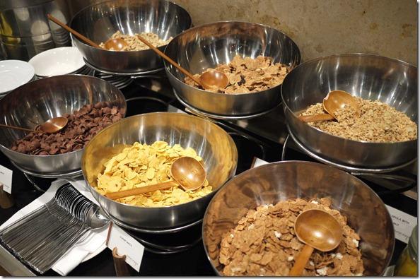 Breakfast cereal, cornflakes and muesli