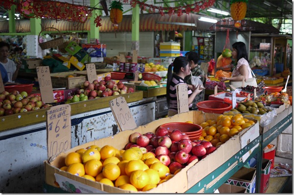 Fresh fruit stalls