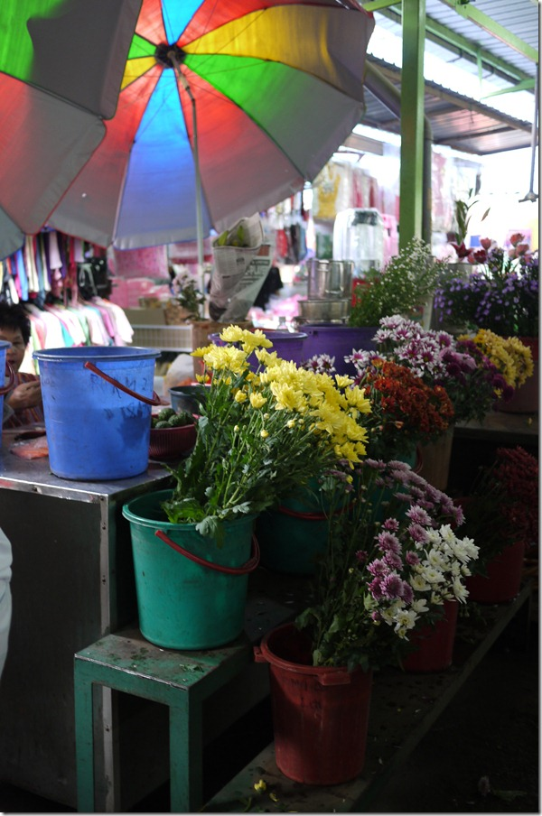 Fresh flowers stall