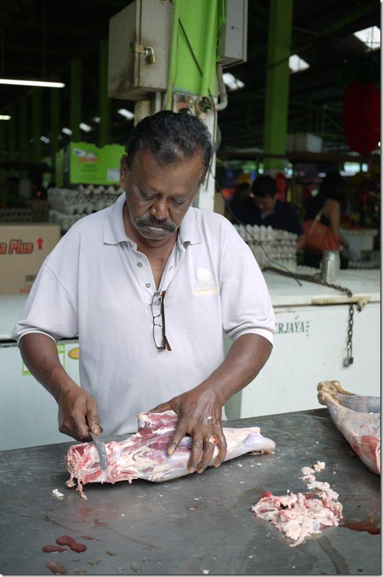 Preparing mutton for sale