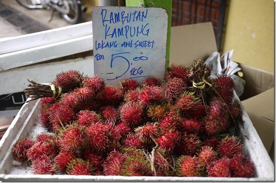 Rambutans RM5.00 per kg (A$1.60 per kg)