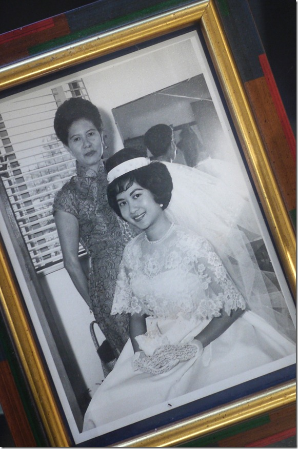 My grandmmother and my mother on her wedding day