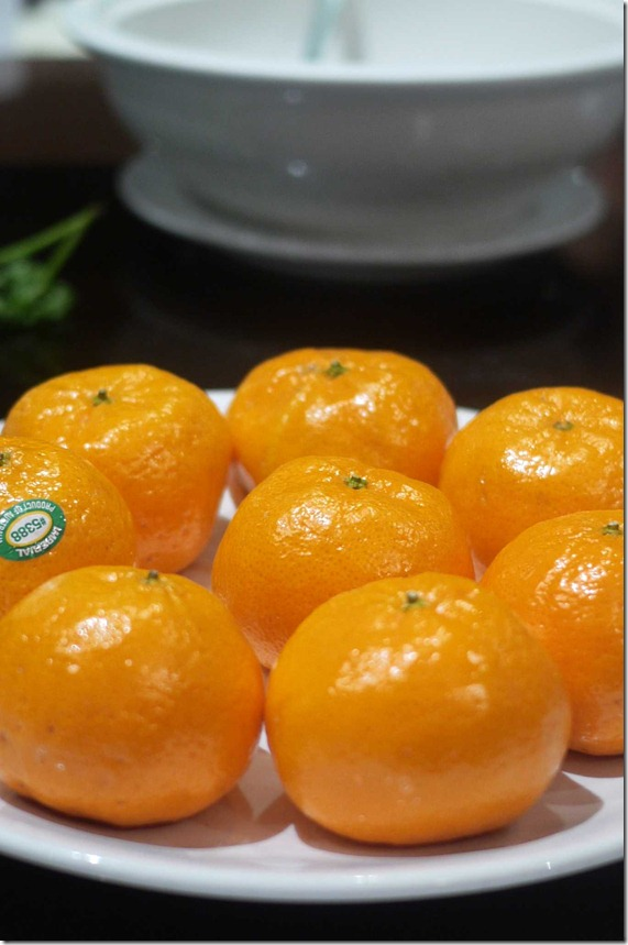 Complimentary mandarins