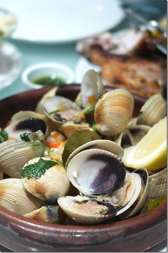 Main Ameijoas 'a Portugalia or Portugalia clams ($17.90 / $34.90 entree or main)