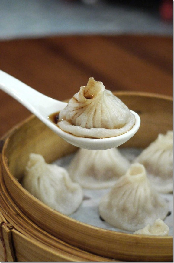 Xiao Long Bao with black vinegar