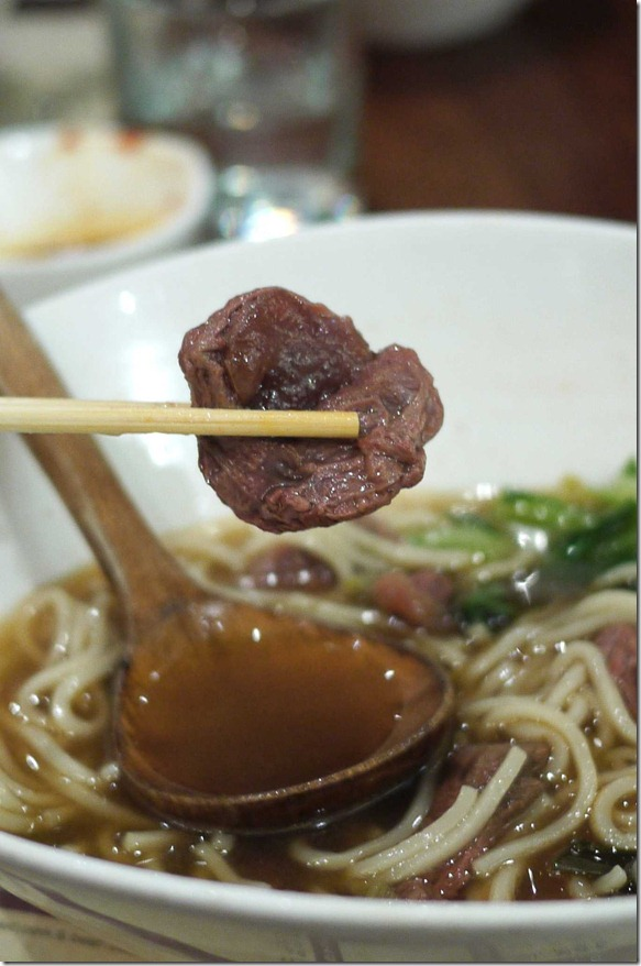 Braised beef in noodles soup $10.80