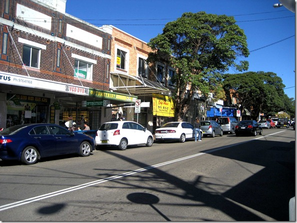 Retail and grocery shops on Henley street, Flemington