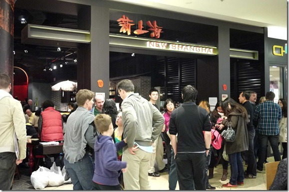 The crowd queuing to get into New Shanghai for Sunday lunch