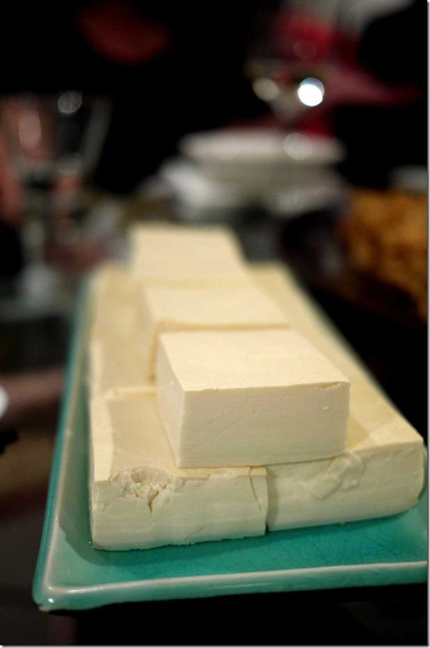 Uncooked soft white tofu