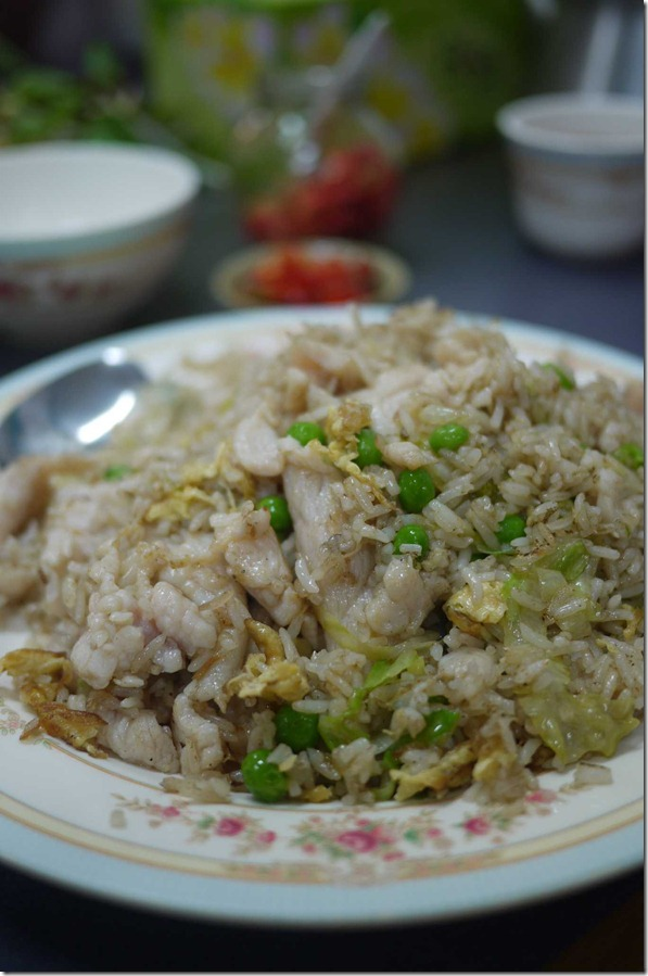 Fried rice with salted fish and chicken $9 @ Pho Toan Thang restaurant