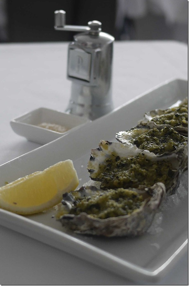 Freshly shucked Sydney rock oysters with eschalot and red wine vinegar $4 each (minimum order six)