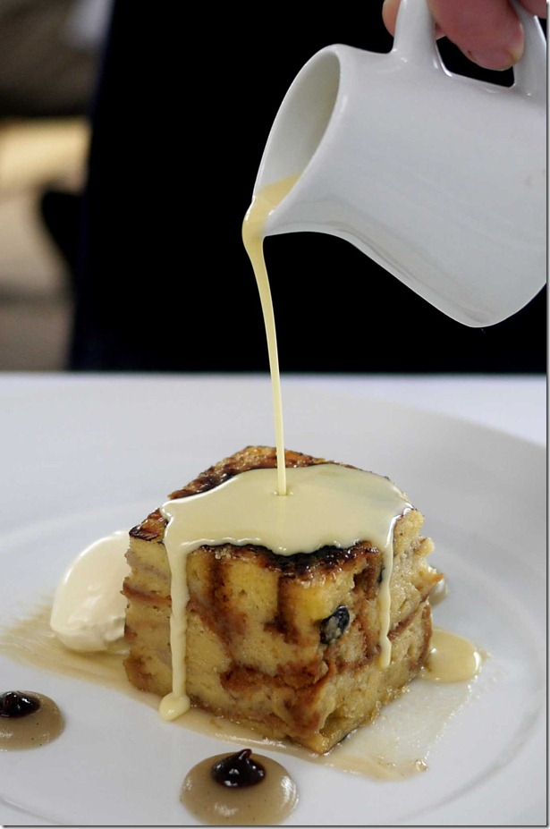 Bread and butter pudding $20