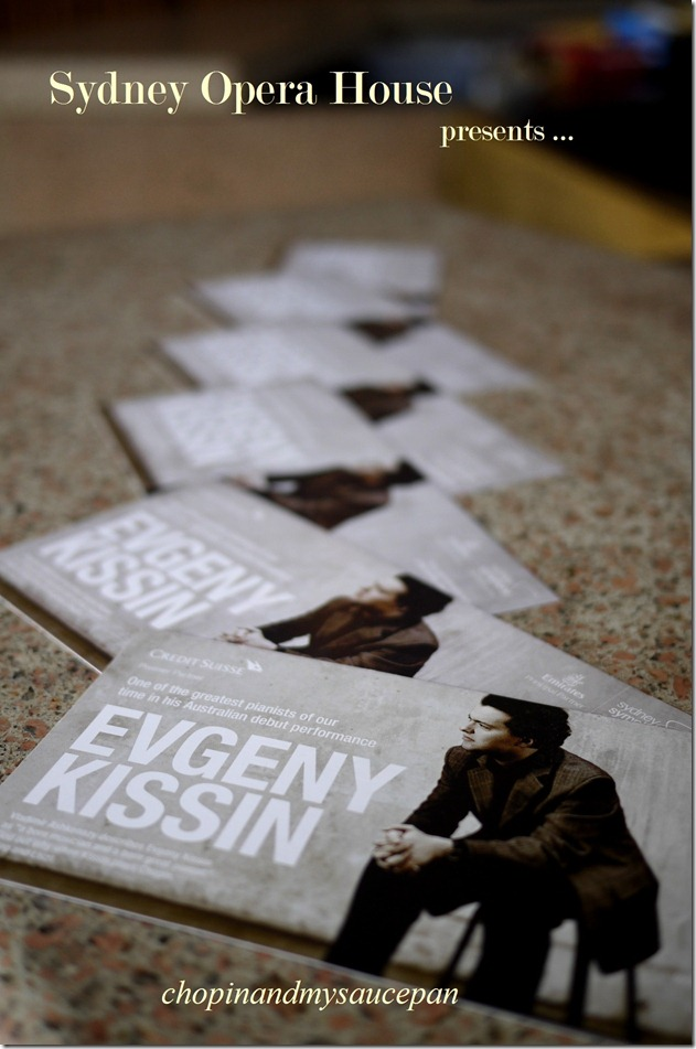 Evgeny Kissin plays Chopin and Liszt ~ Sydney Opera House, September 2011