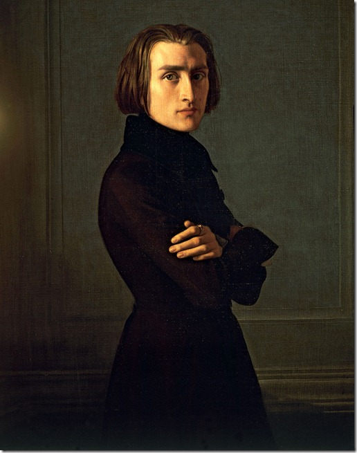 Franz Liszt ~ a portrait by Henri Lehmann in 1839