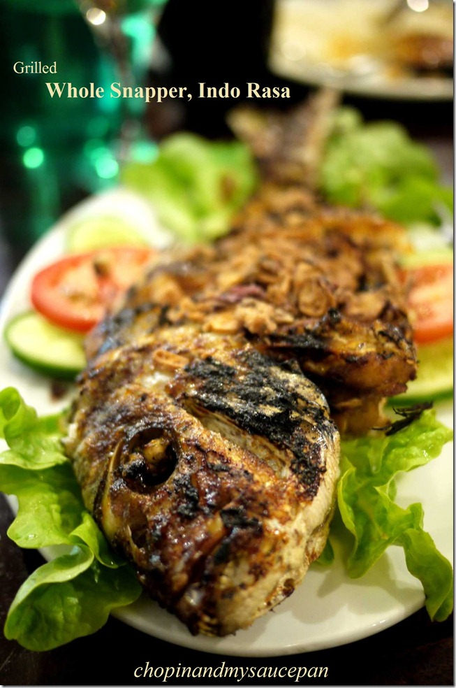 Grilled whole snapper at Indo Rasa Indonesian Restaurant