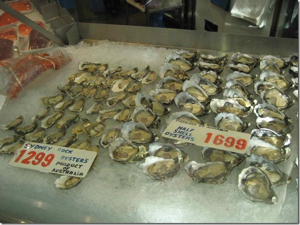 Sydney rock oysters $12.99 per kg