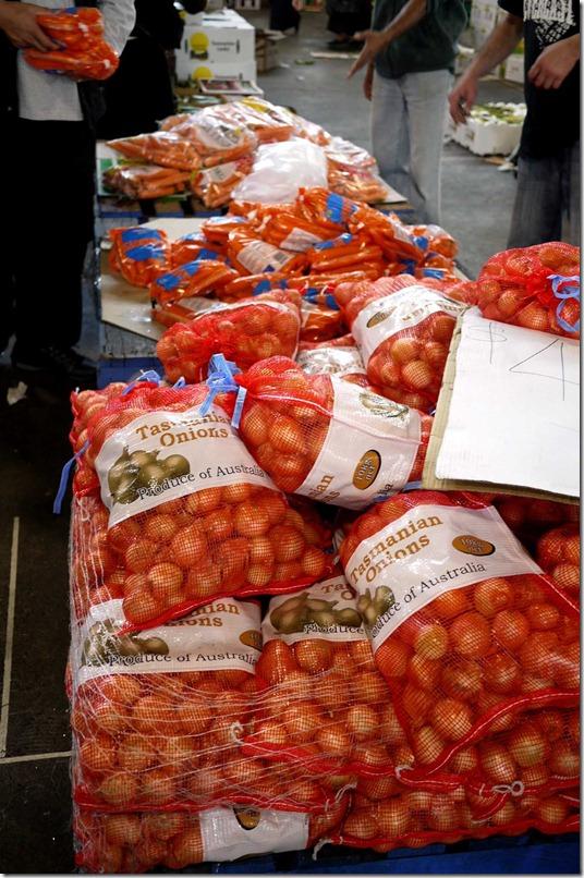 Tasmanian brown onions
