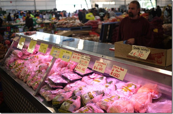 Fresh poultry counter