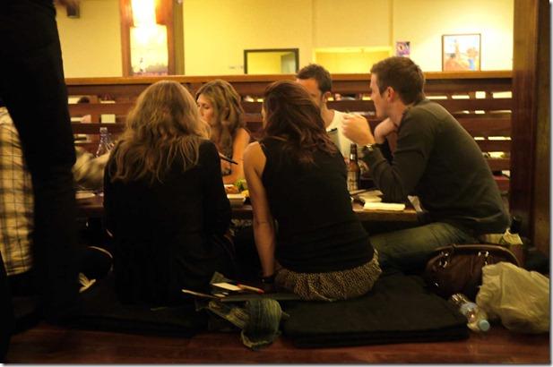 Diners at Juju Japanese restaurant
