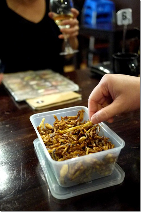 Deep fried anchovies, tempeh and peanuts