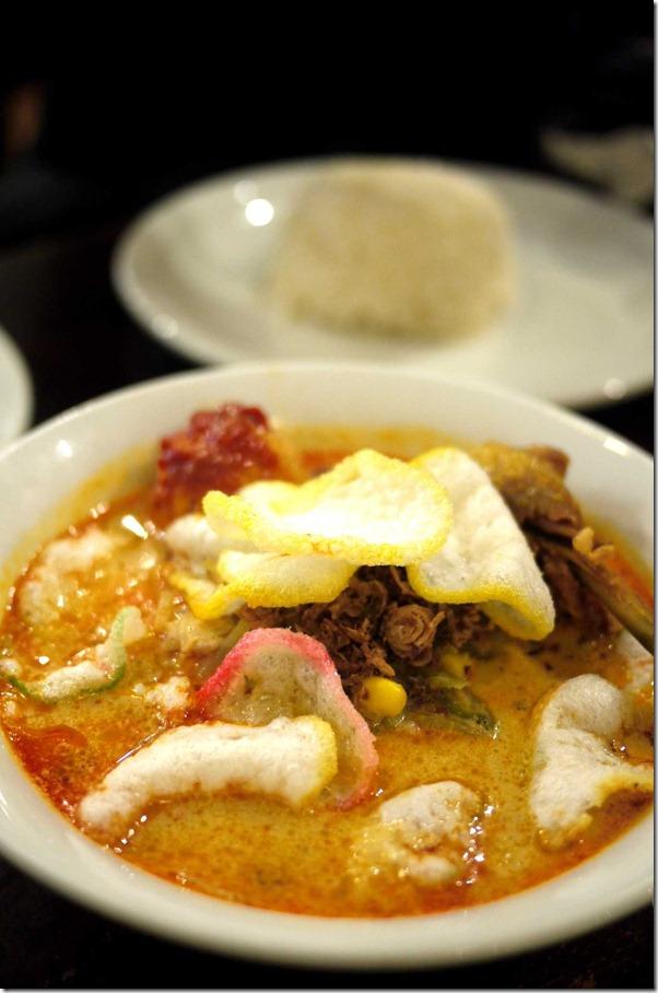 Vegetable curry or lontong sayur