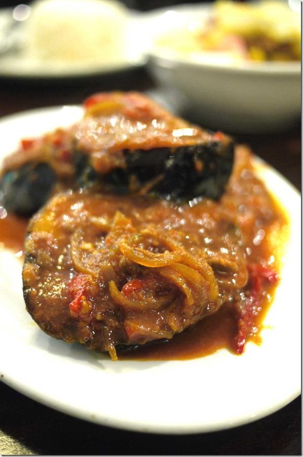 Terung belado or eggplant sambal